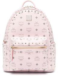 MCM Stark Side Stud-embellished Backpack - Pink