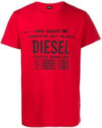 DIESEL ロゴ Tシャツ - レッド