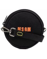 MSGM ラウンド ショルダーバッグ - ブラック