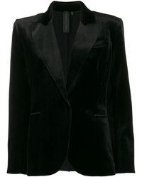 Norma Kamali シングルジャケット - ブラック