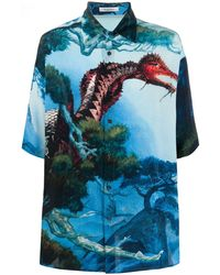 Valentino Zijden Overhemd - Blauw