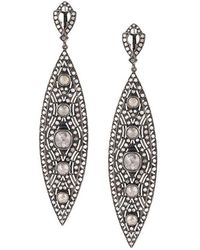 Loree Rodkin - Diamond Tear Drop Earrings - Lyst