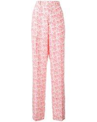 JOSEPH - Riska Poppy Print Trousers - Lyst