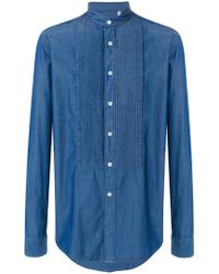 Dell'Oglio - Stitched Bib Shirt - Lyst