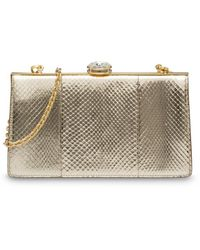 wholesale dealer 1dfe8 832c0 Vivienne Westwood Verona Gold Reptile Leather Box Clutch Bag ...