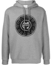 Gaëlle Bonheur Embroidered Logo Hoodie - Gray