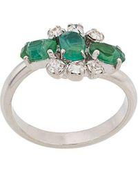 Christian Dior x Susan Caplan Ring Versierd Met Kristal - Metallic