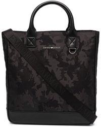 Emporio Armani ロゴ トートバッグ - ブラック