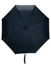 Mackintosh Parapluie automatique à fines rayures - Bleu