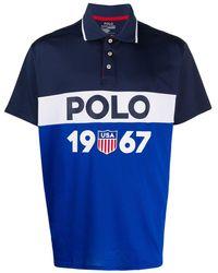 Polo Ralph Lauren Poloshirt Met Logostreep - Blauw