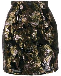 IRO スパンコール ミニスカート - ブラック