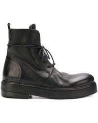 Marsèll Botas con suela gruesa - Negro