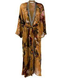 Anjuna Silk Blend Belted Coat - Brown