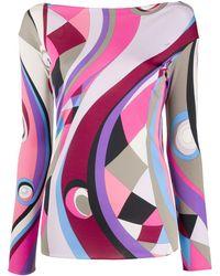 Emilio Pucci Топ С Абстрактным Принтом - Многоцветный
