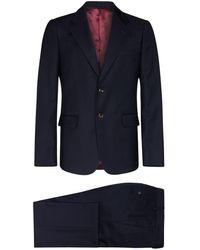 Gucci Tweedelig Wollen Pak - Blauw