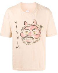 Visvim プリント Tシャツ - ピンク