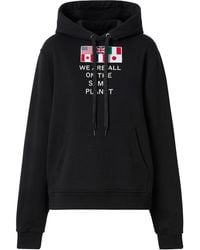 Burberry Sudadera We Are All The Same Planet - Negro