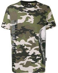 Philipp Plein Camouflage-print T-shirt - Green
