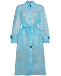 CALVIN KLEIN 205W39NYC - Plastic Belted Trench Coat - Lyst