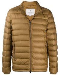 Woolrich ジップアップ パデッドジャケット - ブラウン