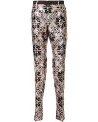 Dolce & Gabbana Брюки С Принтом Maiolica - Розовый