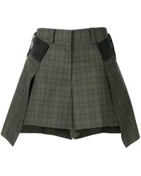 Sacai Gelaagde Shorts - Groen