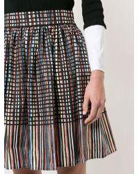Paule Ka - Pleated Print Skirt - Lyst