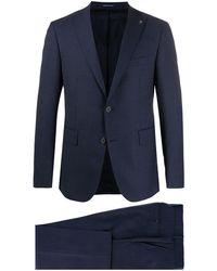 Tagliatore Zweiteiliger Anzug mit geradem Schnitt - Blau