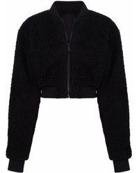 Heron Preston Fleece Bomber Jacket - Black