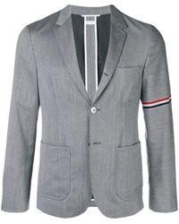 Thom Browne Sakko mit aufgesetzten Taschen - Grau