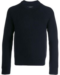 Maison Margiela リブニット セーター - ブルー