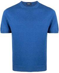 Drumohr ファインニット Tシャツ - ブルー