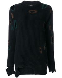 Ballantyne - Distressed Holey Sweater - Lyst