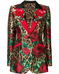 Dolce & Gabbana - Blazer à imprimé léopard - Lyst