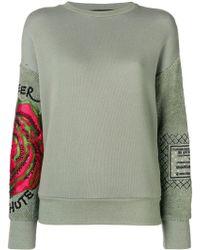 Mr & Mrs Italy - Embroidered sleeve sweatshirt - Lyst