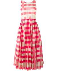 Sara Lanzi Vichy Pinafore Dress - Pink