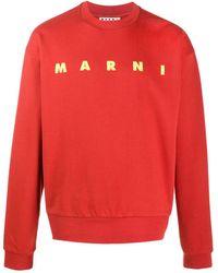 Marni Толстовка С Логотипом - Оранжевый