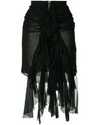 Saint Laurent - Ruffle Front Mini Skirt - Lyst