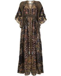 Camilla Платье Abingdon Palace С Присборенной Талией - Черный