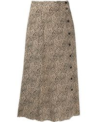 Zadig & Voltaire June Leopard-print Skirt - Brown