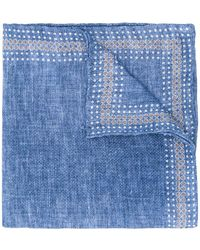 Brunello Cucinelli Polka Dot Pocket Square - Blue