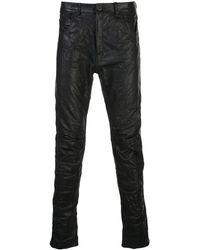 Poeme Bohemien Leather Skinny Fit Pants - Black