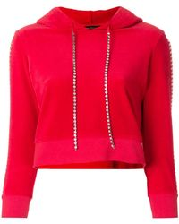 Juicy Couture Swarovski Embellished Velour Hoodie - Red
