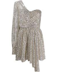 Amen スパンコール ドレス - メタリック