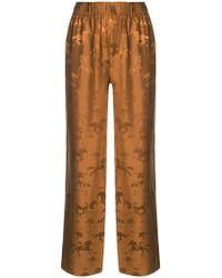 Ganni - Horse Print Pyjama Trousers - Lyst