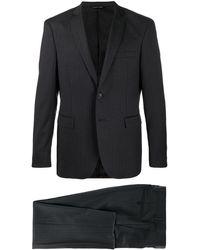 Tonello ストライプ シングルスーツ - ブラック