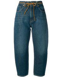 Levi's Dark Wash Barrel Jeans - Blue