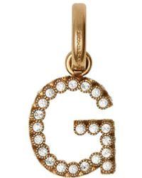 Burberry Ciondolo a forma di lettera G - Metallizzato