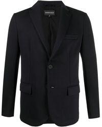 Emporio Armani シングルジャケット - ブルー