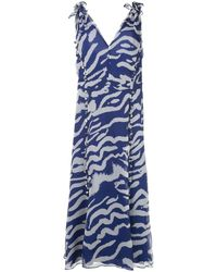 Prabal Gurung ストラップドレス - ブルー